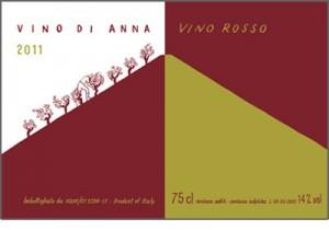 Vino Di Anna labels-rosso